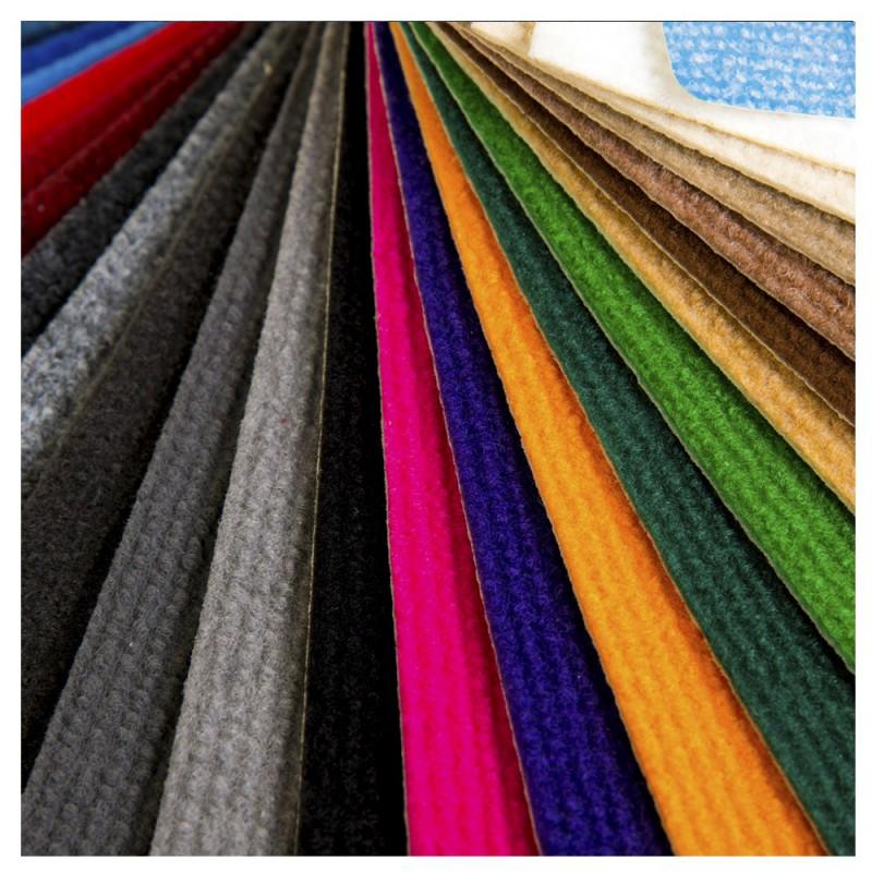 Moqueta uso doméstico en varios colores. Se suministra por m2.